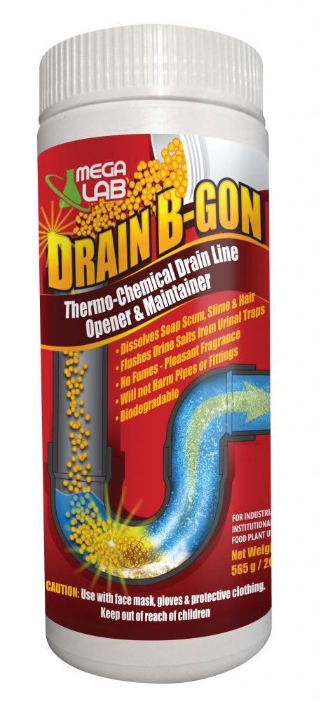 brain b-gon thermo-chemical drain line opener and maintainer
