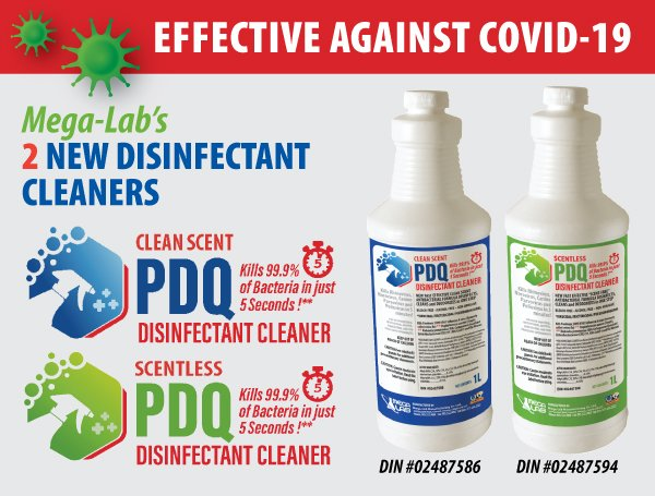 PDQ Disinfectant Cleaners